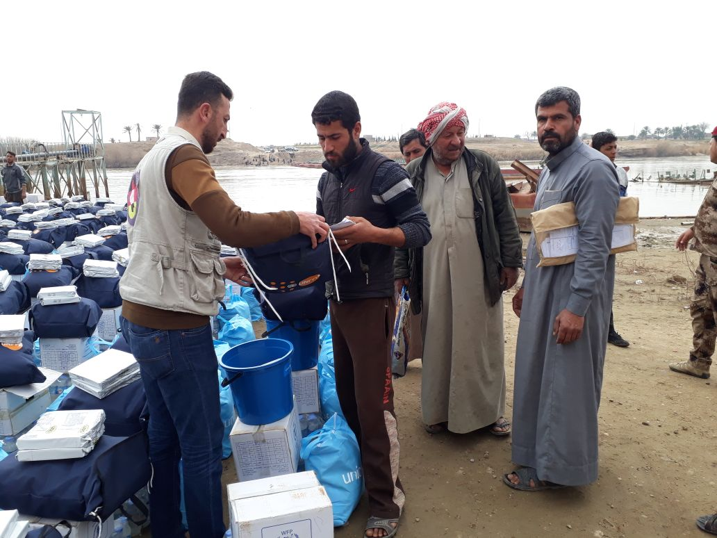 """Rapid Response Mechanism"": Intervention for IDP's in Anbar and Salah-al-Din by the provision of food parcels, hygiene and dignity kits for IDP's on the move."
