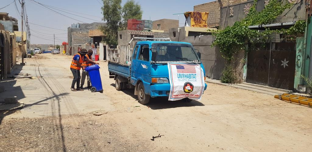 Construction of a water network and a solid waste collection campaign in the Informal Settlement of Kilo 7 neighbourhood in Ramadi, Anbar governorate