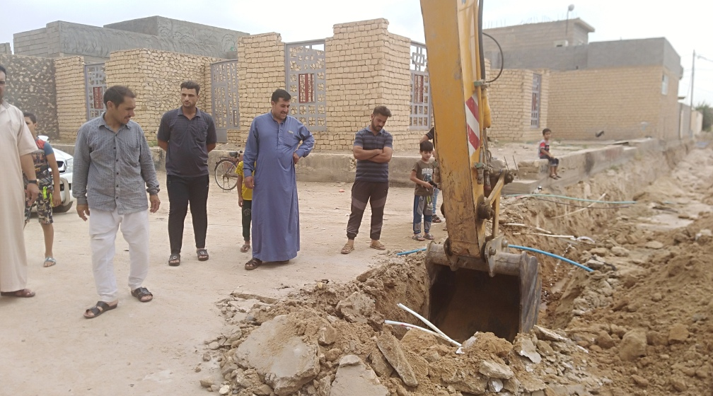 Construction of potable water and rain water drainage networks and a solid waste collection campaign in Al-Nahrawan Informal Settlement in Mosul