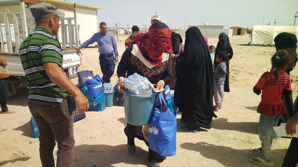 """Rapid Response Mechanism"": Intervention for IDP's in Anbar and Salah al Din. Provision of food parcels and hygiene and dignity kits for IDP's on the move"